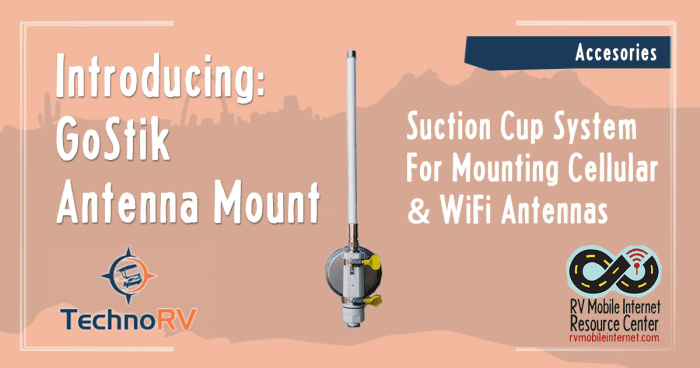 Technorv Introduces Convenient Rv Antenna Suction Cup