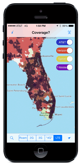 Coverage App For IOS And Android Mobile Internet Resource Center - Go phone coverage map
