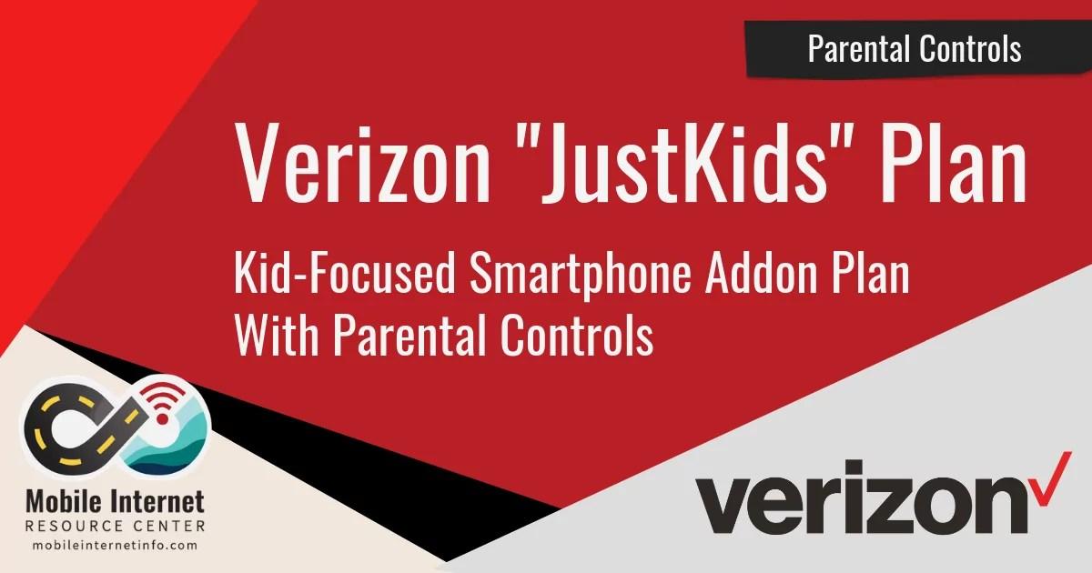 verizon justkids smartphone plan