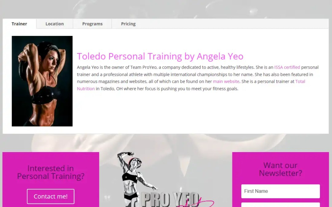 Have You Checked Out ToledoPersonalTraining.com Yet?