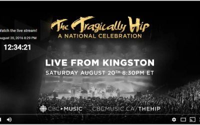 Watch The Tragically Hip Concert with me Tonight!