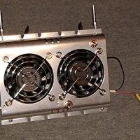 Deluxe RV Refrigerator Evaporator Fan w/ LED & Grill