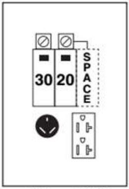 RV Power Panels: Power Outlet Box 120/240 volt, 30 amp