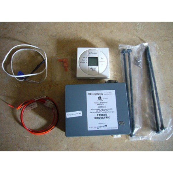 dometic single zone lcd thermostat wiring diagram split air conditioner outdoor unit 3313189 049 and control kit cool furnace heat strip polar white