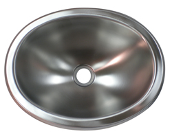 stainless steel 10x13 oval lavatory rv sink rv parts country