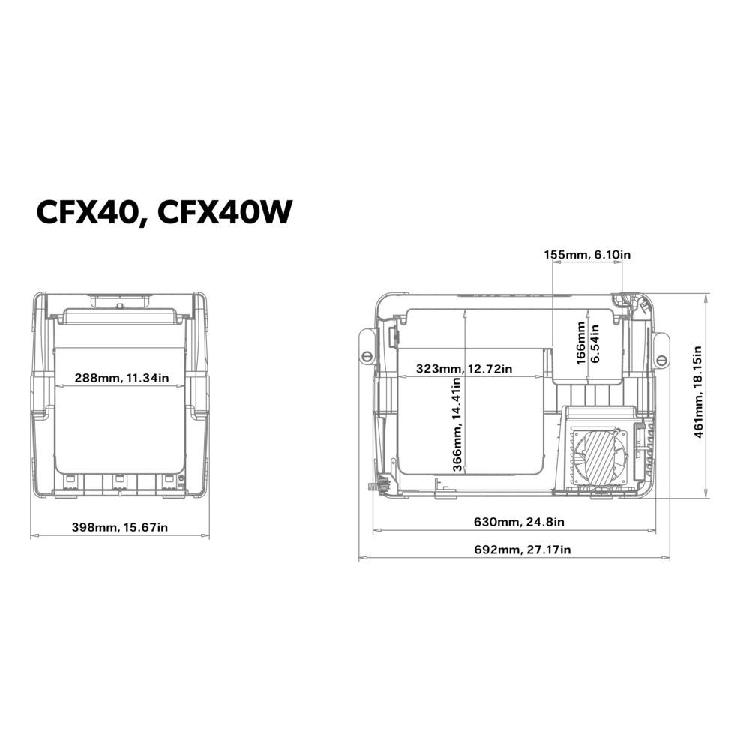 Dometic CF-35 Waeco CoolFreeze Portable Fridge Freezer