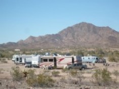 Dome Rock boondocking Quartzsite
