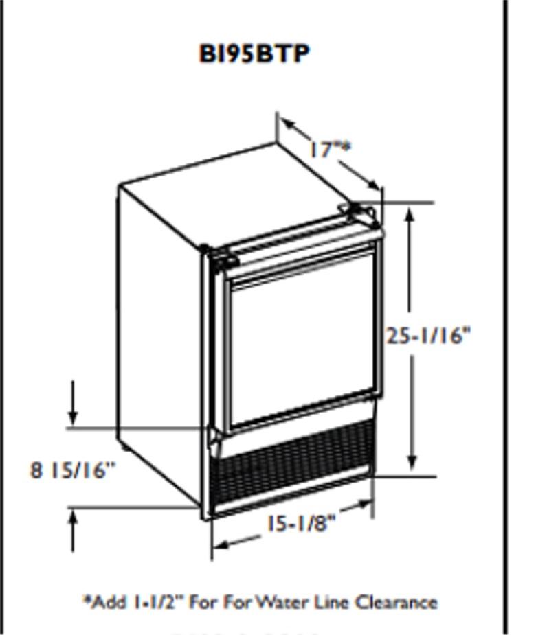 U-Line ULN-BI95BTP-03 Ice Maker