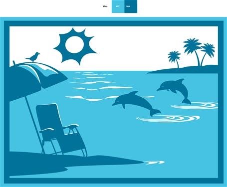 faulkner 53000 beach and dolphins turquoise rv patio mat 9 x 12