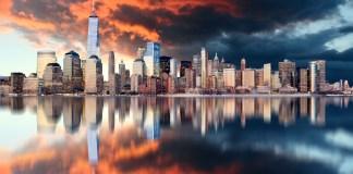 Downtown of New York City, USA
