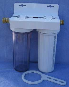 Dual Walter Filter Canister All water coming into our RV goes through a dual canister water filtration system.