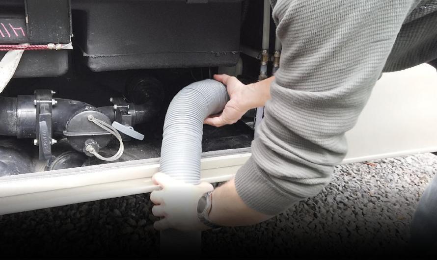 Secret RV Sewer Hose Storage Compartment