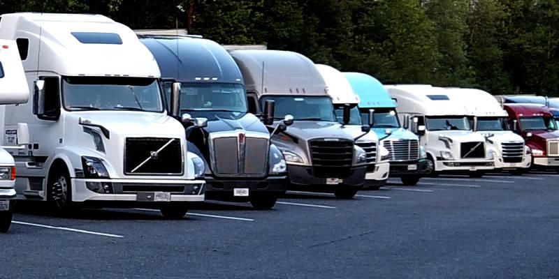 Trucks at rest stop