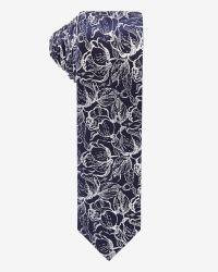 Skinny white floral Tie | RW&CO.