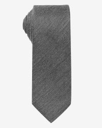 Regular Dark Grey Silk Tie | RW&CO.
