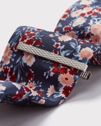 Floral tie and tie bar gift set | RW&CO.