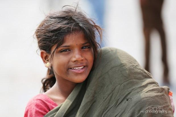 Mädchen in Mumbai