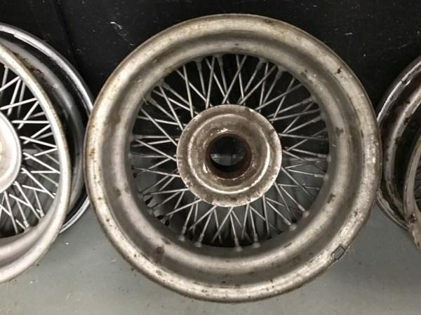 Jaguar Xk120 Xk140 Xk Dayton Wire Wheels Rims Set Of 4 120