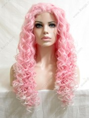 synthetic hair 24 pink cl44# ombre