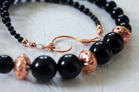 Black Onyx & Copper necklace