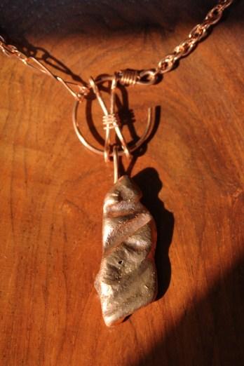 Repurposed Copper Pendant Copper Jewelry