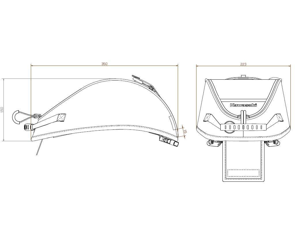 Tankrucksack mit Fenster (4L) für Z 900 2020 / Ninja650