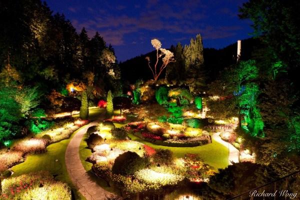 Butchart Gardens Night Vancouver Island Bc