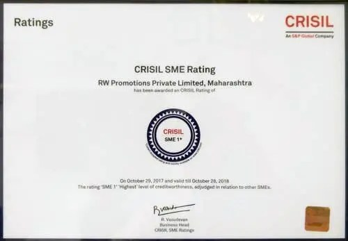 CRISIL SME Rating - SME 1