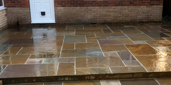 Indian Stone Patio, Collingham.