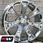 20 Inch 20 X9 Wheels For Chevy Avalanche Chrome Rims 5665