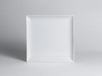 Steelite, Square Plate, Cafe Porcelain, 8 inches