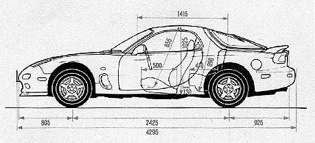 US Specifications for 1993 FD3S