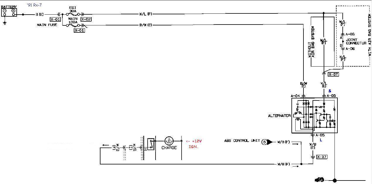 4 Wire Ls Wiring Diagram For A Ls Swap Rx 7 Alternator Cross Reference And Swap Chart