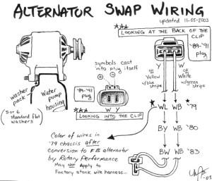 FD alternator wiring into FB  RX7Club  Mazda RX7 Forum