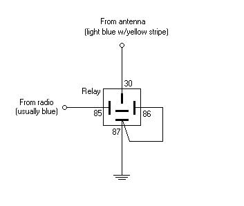 electric antenna wiring diagram nephron labeled 3gen rx7 frequently asked questions on the 2nd generation rx 7 faq for fcfrequently