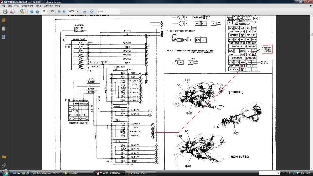 medium resolution of convertible rx7 fuse box main