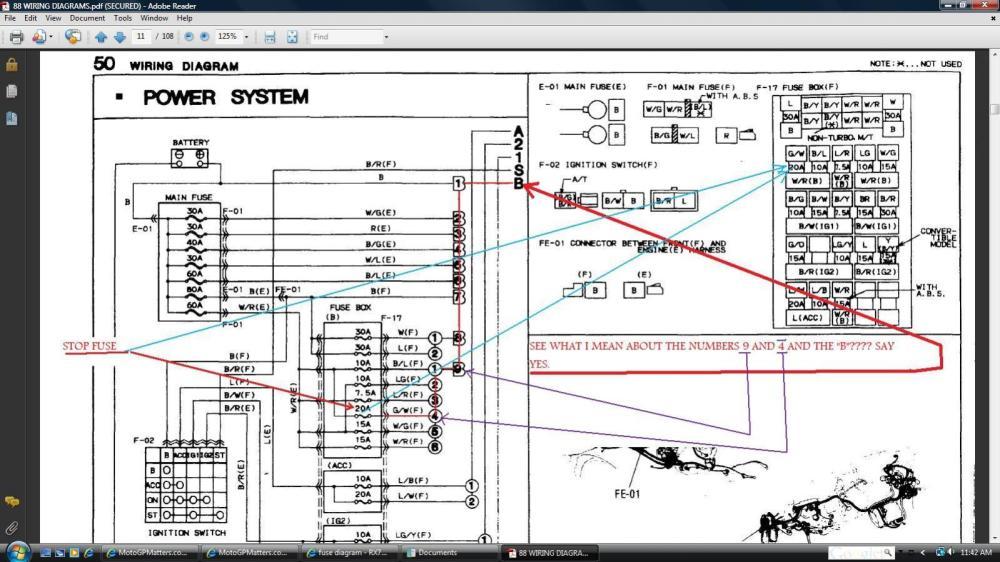 medium resolution of fuse diagram rx7club com mazda rx7 forum 87 rx7 fuse box diagram mazda rx7 fuse box diagram