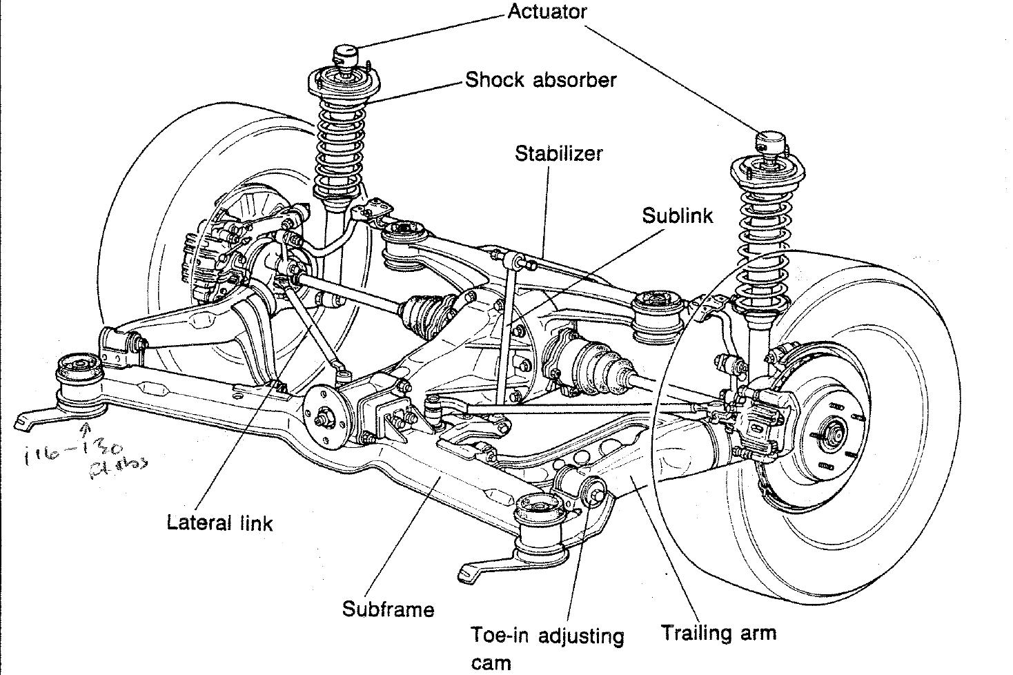 Trailing Link Rear Suspension. Diagram. Auto Wiring Diagram