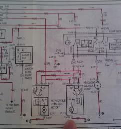 headlight motor techical data rx7club com mazda rx7 forum 1986 rx7 wiring diagram for headlights [ 1843 x 1377 Pixel ]