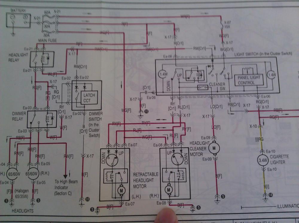 medium resolution of headlight motor techical data rx7club com mazda rx7 forum 1986 rx7 wiring diagram for headlights