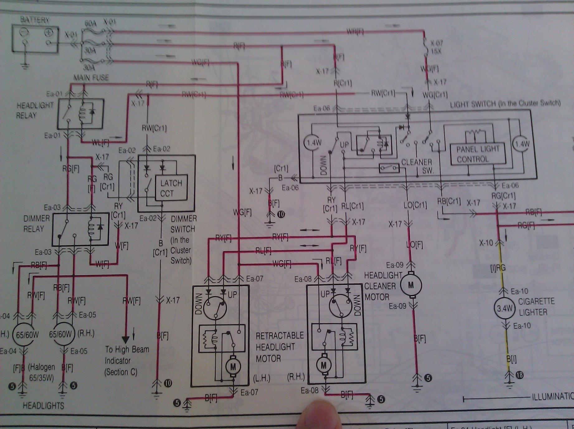 hight resolution of headlight motor techical data rx7club com mazda rx7 forum 1986 rx7 wiring diagram for headlights