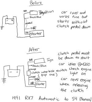 Strange problem when wiring in the Clutch Interlock Switch  RX7Club  Mazda RX7 Forum