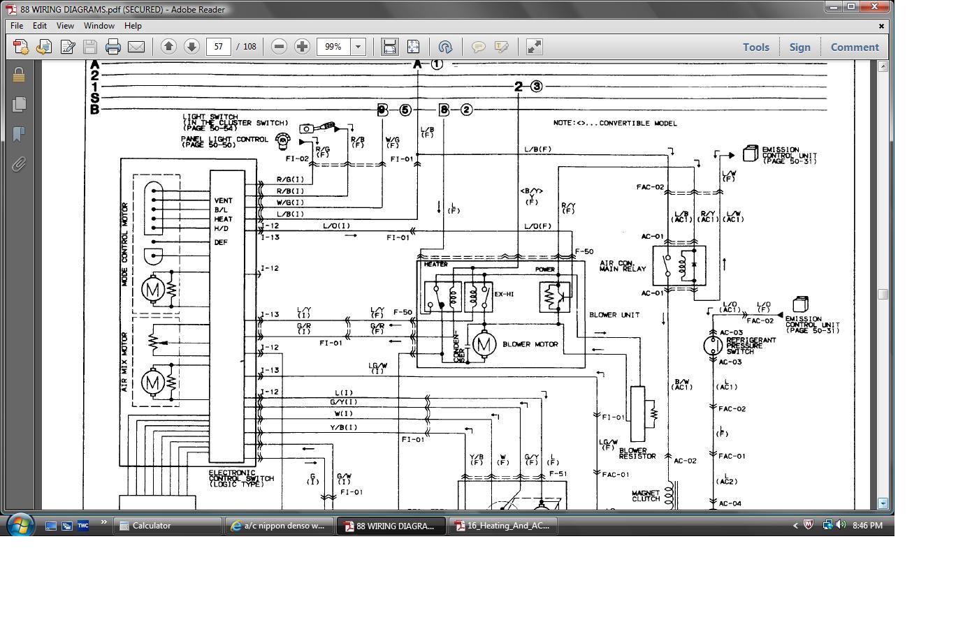 5 Wire Relay Wiring Diagram For Door Lock A C Nippon Denso Wiring Diagram Rx7club Com Mazda Rx7