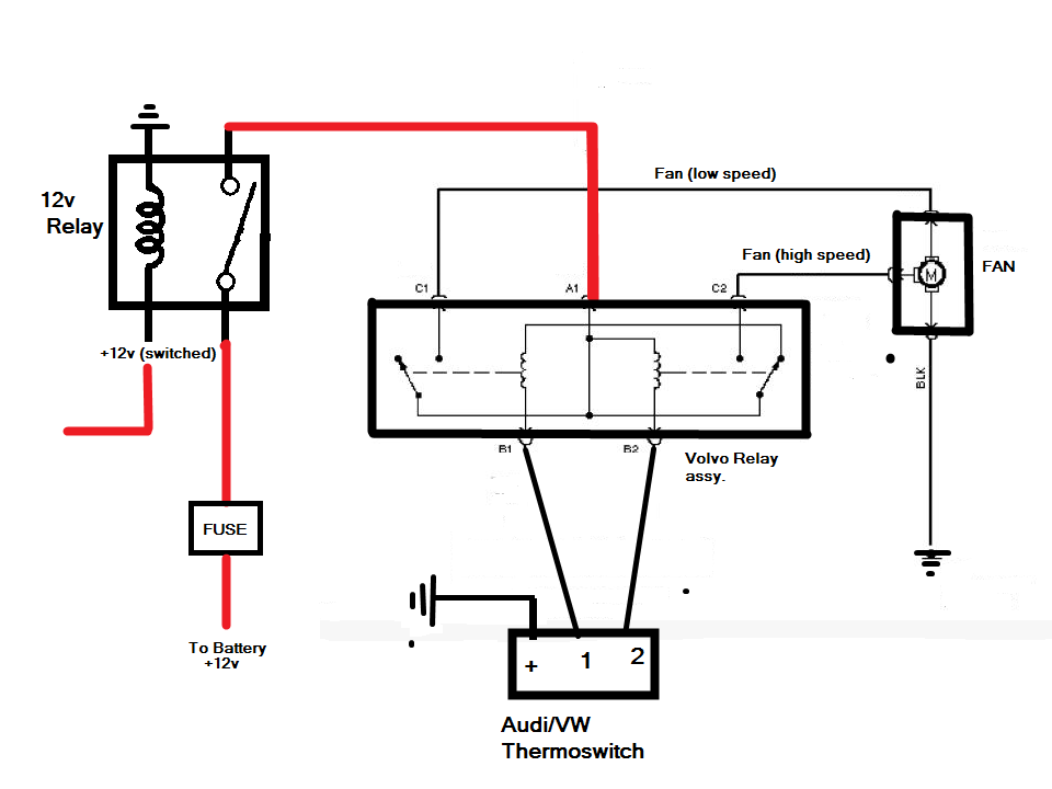 Wiring Diagram For Aftermarket Automotive Fan With Air