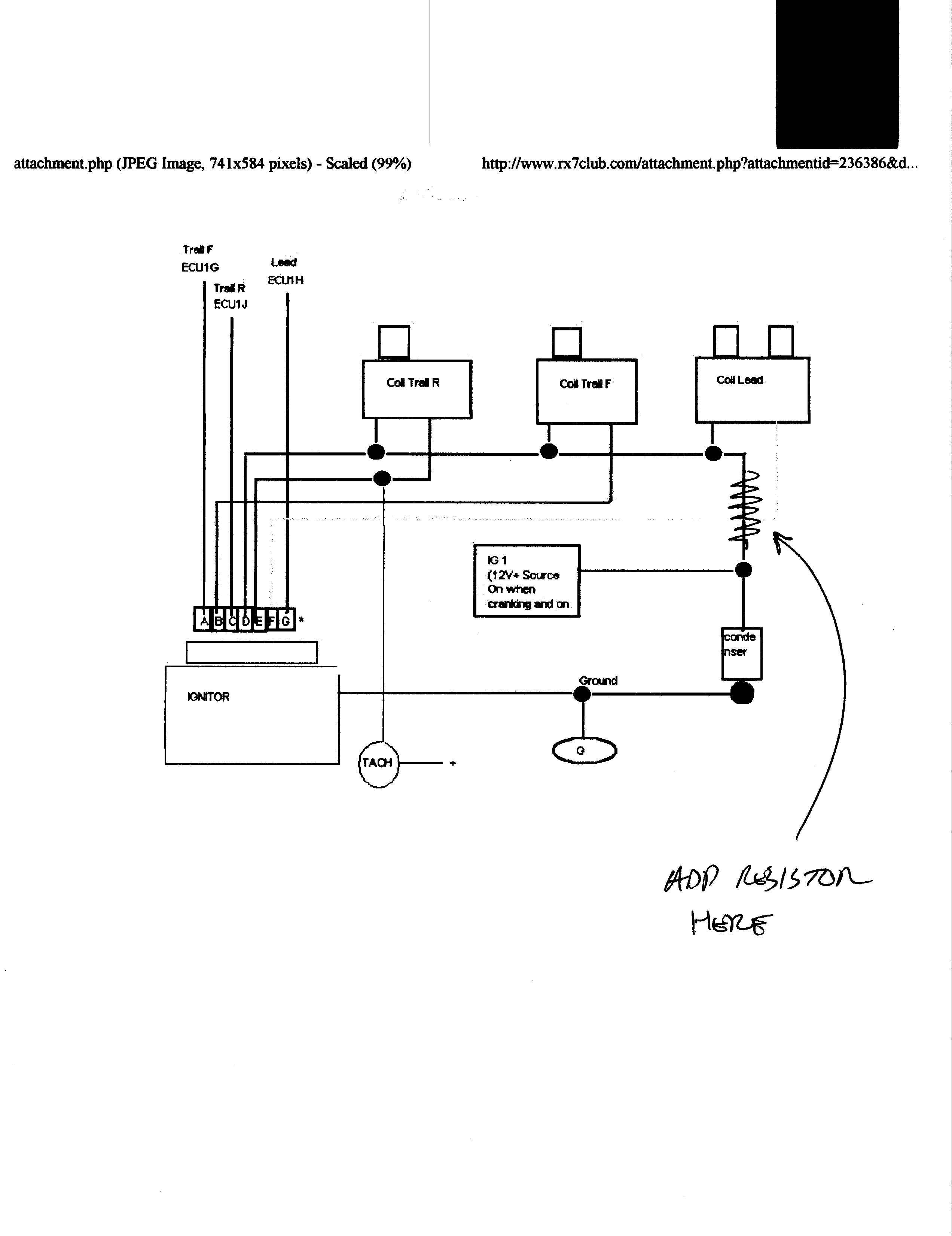 wiring diagram for ignition coil with points kubota starter solenoid fd help please rx7club mazda