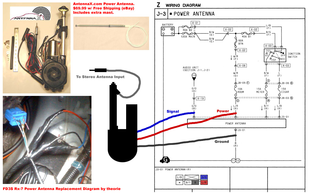 Honda power antenna wiring diagram