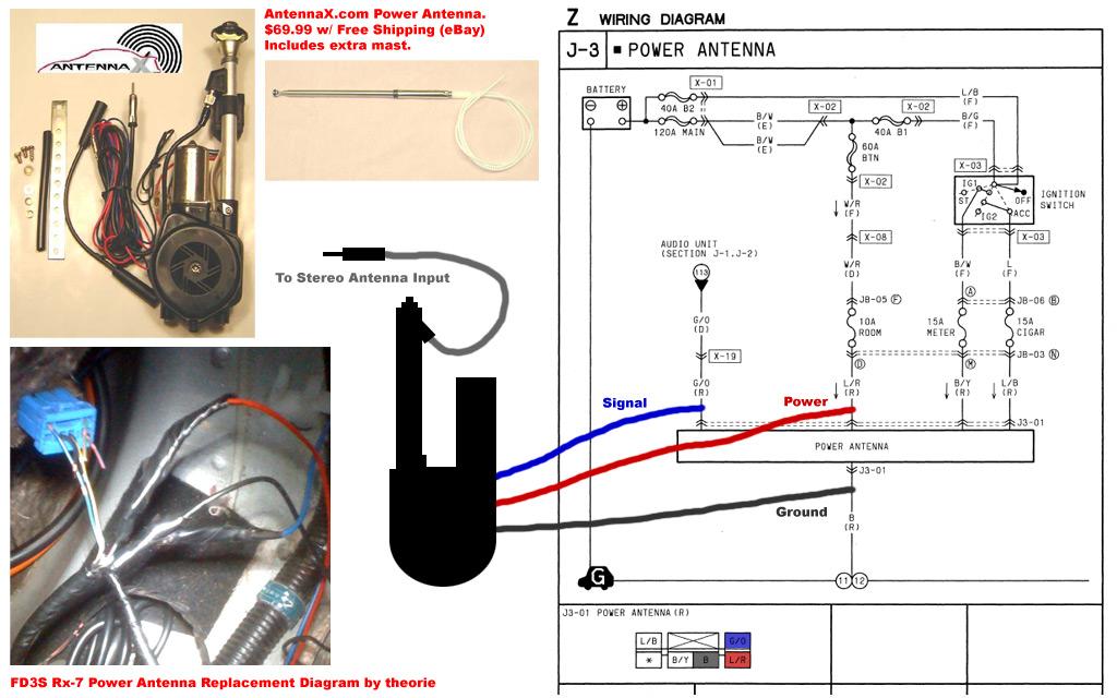 delco power antenna relay diagram   33 wiring diagram