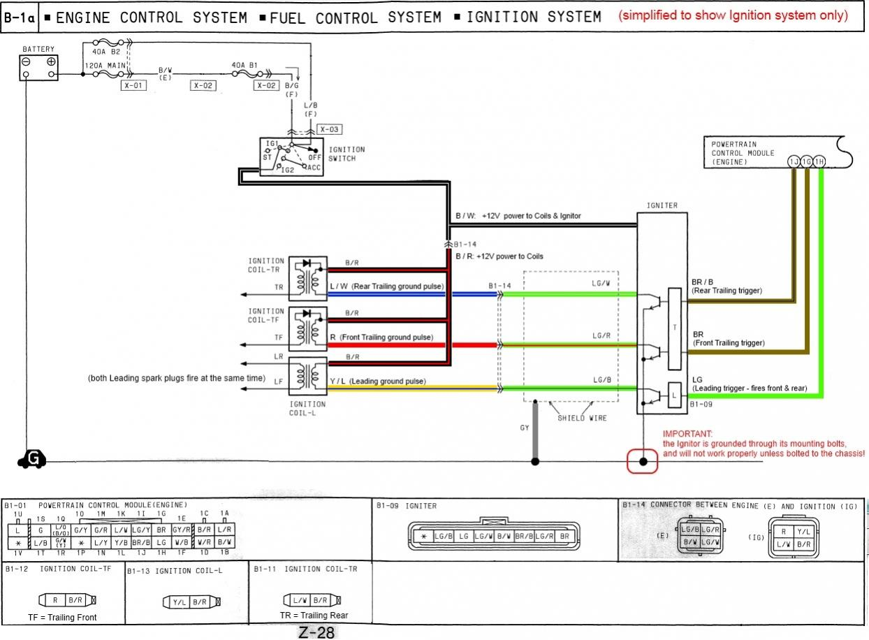 hight resolution of how the fd s ignition system works simplified wiring diagram 1994 rx7 ignition