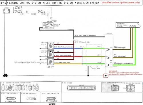 small resolution of how the fd s ignition system works simplified wiring diagram 1994 rx7 ignition