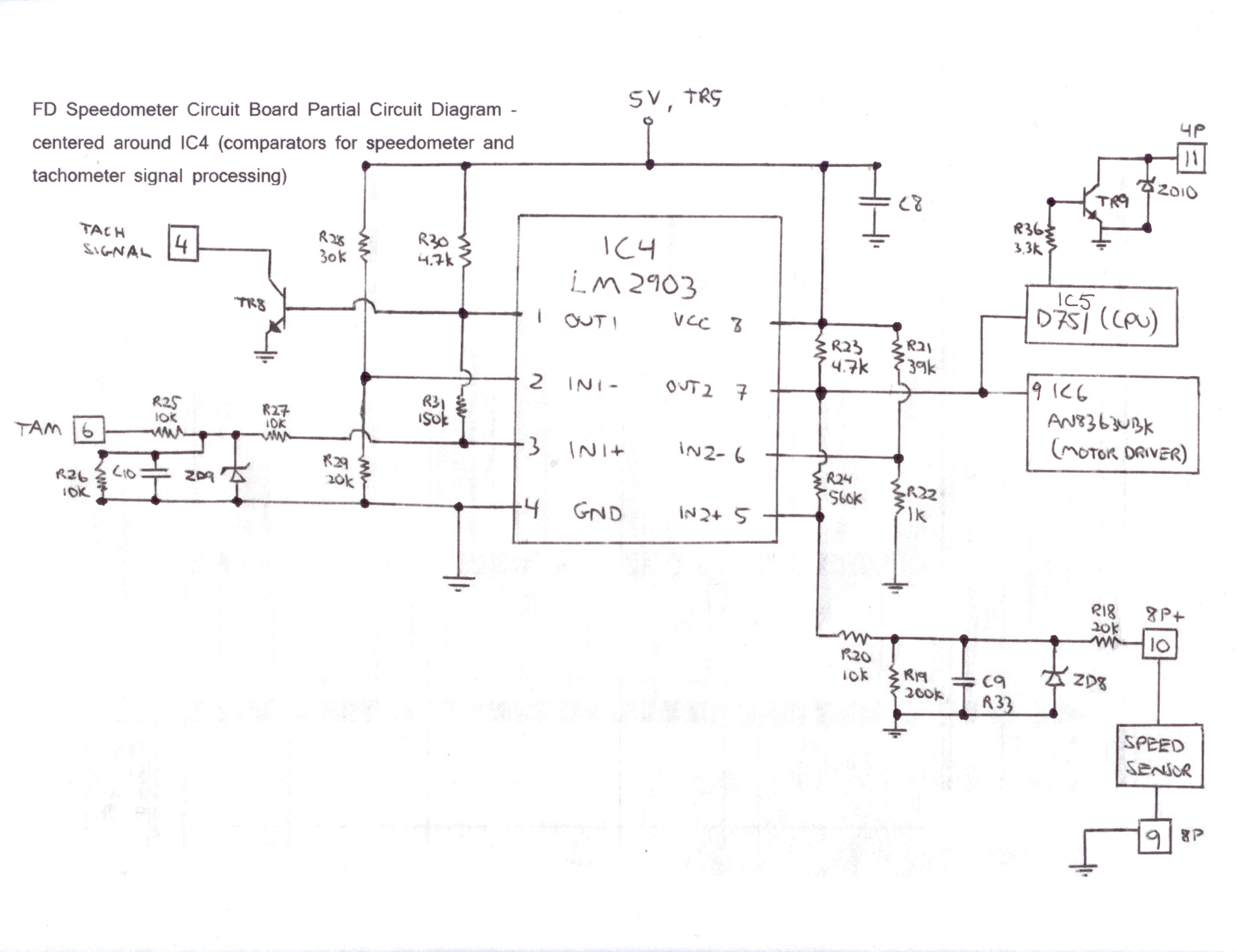 speedometer wiring diagram toyota rav4 exhaust system car stereo wire